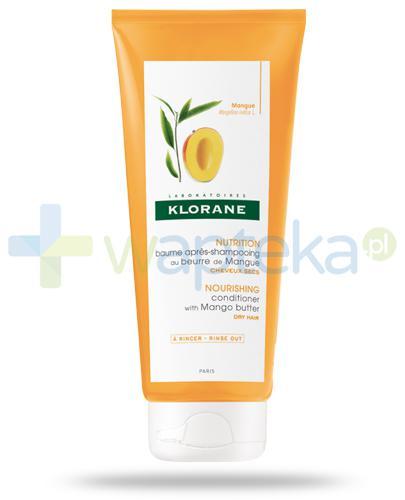 Klorane Nutrition balsam odżywczy do włosów suchych na bazie masła z mango 200 ml