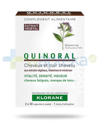 Klorane Quinoral do zmęczonych pozbawionych energii włosów 60 kapsułek
