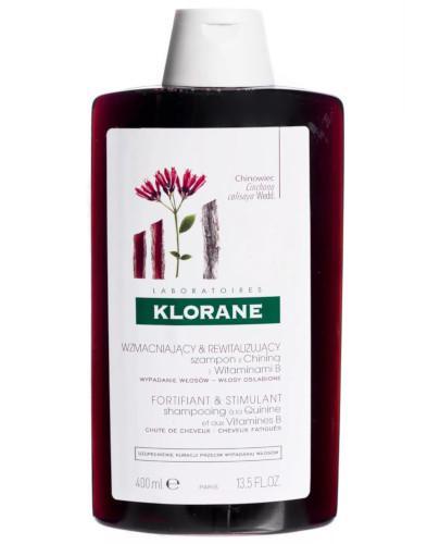 Klorane szampon na bazie chininy i witamin B 400 ml + szampon z chininą 200ml [GRATIS]
