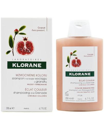 Klorane szampon na bazie wyciągu z granatu 200 ml