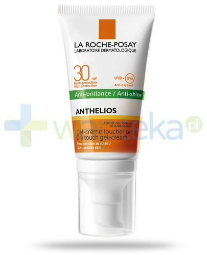 La Roche Anthelios Anti-Shine SPF30 suchy żel-krem do twarzy 50 ml + Posthelios kojący żel po opalaniu 40ml [GRATIS]