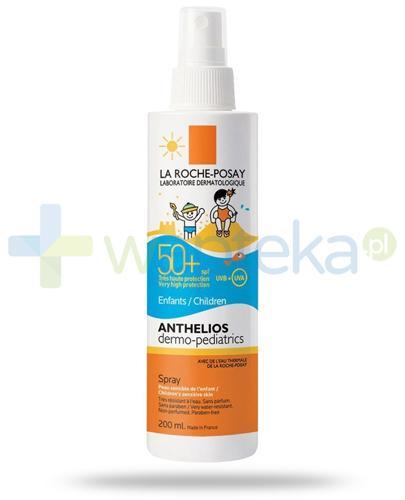 La Roche Anthelios Dermo-Pediatrics SPF50+ spray dla dzieci 200 ml + Posthelios kojący żel po opalaniu 40ml [GRATIS]