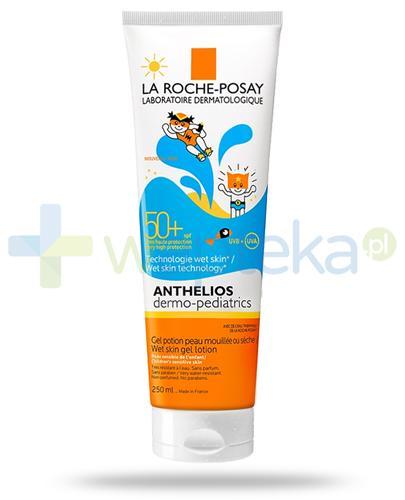 La Roche Anthelios Dermo-Pediatrics Wet Skin SPF50+ mleczko do ciała dla dzieci 250 ml + Posthelios kojący żel po opalaniu 40ml [GRATIS]