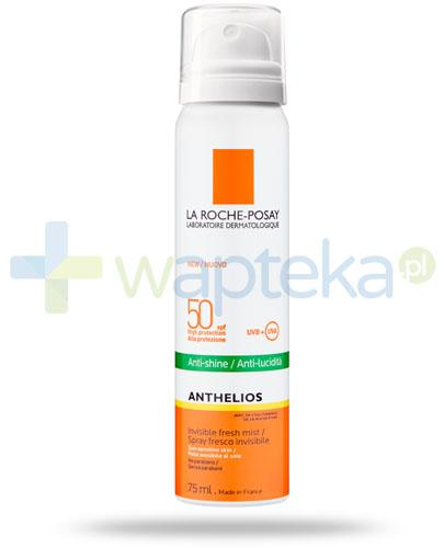 La Roche Anthelios SPF50 mgiełka do twarzy przeciw błyszczeniu się skóry wrażliwej 75 ml + Posthelios kojący żel po opalaniu 40ml [GRATIS]