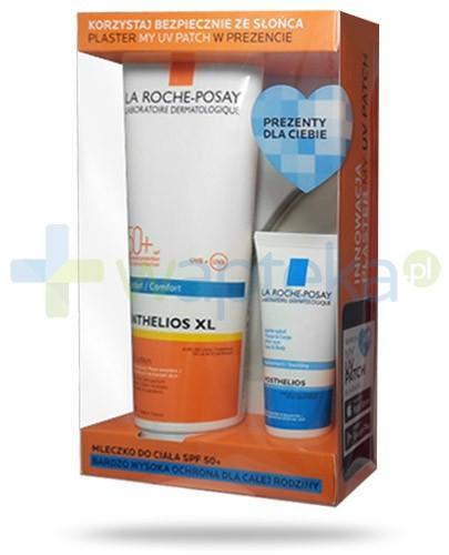 La Roche Anthelios XL ZESTAW mleczko do ciała SPF50+ 250 ml + Posthelios aksamitny żel nawilżający po opalaniu 40 ml + My Patch UV