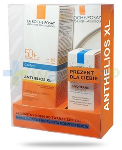 La Roche Anthelios XL ZESTAW aksamitny krem do twarzy SPF50+ 50 ml + Hydrane Legere nawilżający krem termalny do skóry wrażliwej 15 ml + My UV Patch GRATIS