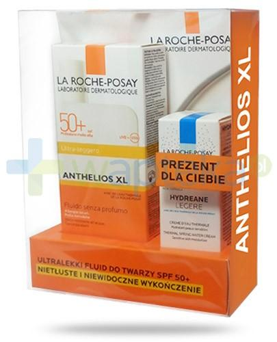 La Roche Anthelios XL ZESTAW ultralekki fluid do twarzy SPF50+ 50 ml + Hydrane Legere nawilżający krem termalny do skóry wrażliwej 15 ml + My UV Patch GRATIS