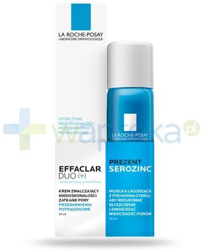 La Roche Effaclar Duo [+] krem zwalczający niedoskonałości i przebarwienia potrądzikowe 40 ml + La Roche Serozinc mgiełka łągodząca z pochodną cynku do skóry tłustej 50 ml [ZESTAW]