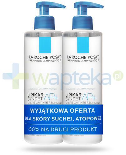 La Roche Lipikar Syndet AP+ krem myjący uzupełniający poziom lipidów przeciw podrażnieniom skóry 2x 400 ml [DWUPAK]