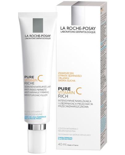 La Roche Posay Redermic C intensywnie nawilżająca i ujędrniająca pielęgnacja przeciwzmarszczkowy do skóry suchej 40 ml