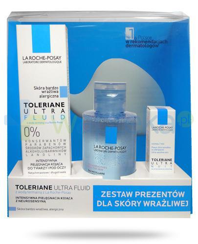 La Roche Toleriane Ultra Fluid 40 ml + woda micelarna 100 ml + krem na noc 2 ml [ZESTAW]
