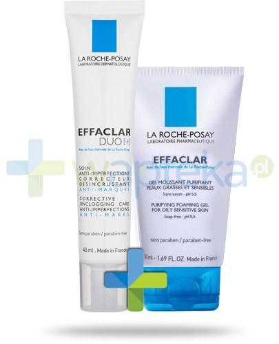 La Roche ZESTAW Effaclar Duo+ krem zwalczający niedoskonałości i przebarwienia potrądzikowe 40 ml + Effaclar żel oczyszczający do skóry tłustej i wrazliwej 50 ml