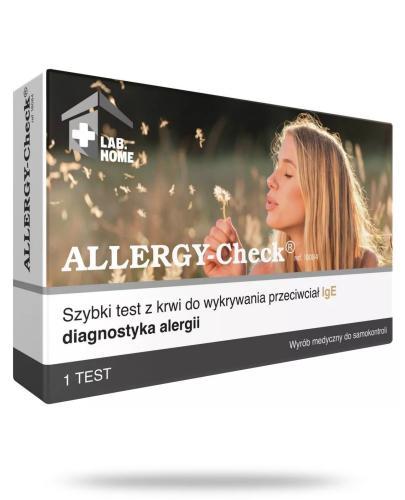 Allergy Check test płytkowy do diagnostyki alergii 1 sztuka LabHome