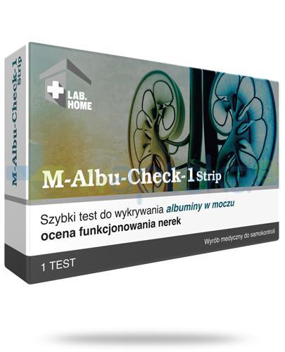 M-Albu Check-1 test paskowy do oceny funkcjonowania nerek 1 sztuka LabHome