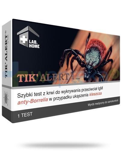 1.VedaLab Tik Alert test płytkowy do wykrywania boreliozy 1 sztuka