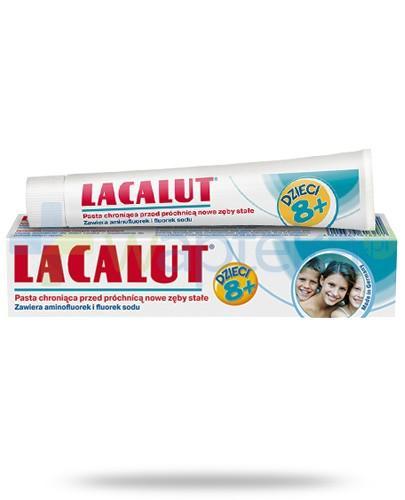 Lacalut pasta chroniąca przed próchnicą nowe zęby stałe dla dzieci 8+ 50 ml