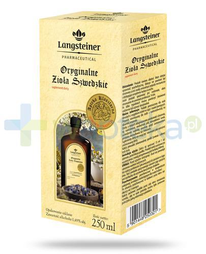 Langsteiner Oryginalne Zioła Szwedzkie płyn na trawienie 250 ml