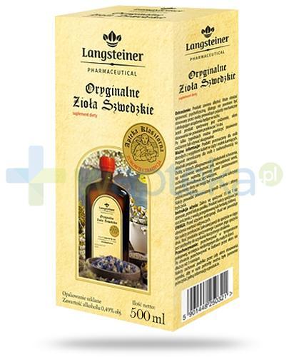 Langsteiner Oryginalne Zioła Szwedzkie płyn na trawienie 500 ml