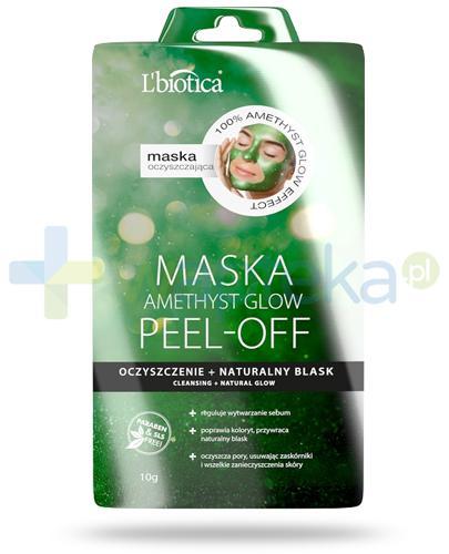 Lbiotica Amethyst Glow Mask Peel Off maska oczyszczająca 10 g