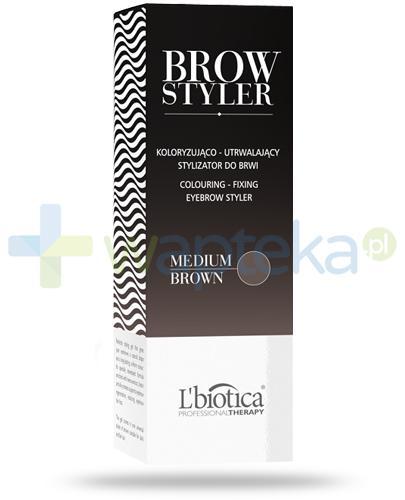 Lbiotica Brow Styler koloryzująco-utrwalający stylizator do brwi medium brown 4 ml