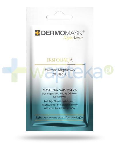 Lbiotica DermoMask Night Active Eksfoliacja maseczka naprawcza stymulująca cykl nocnej odnowy komórkowej 12 ml