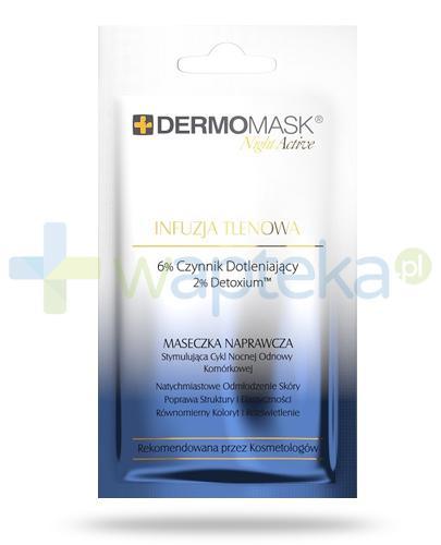 Lbiotica DermoMask Night Active Infuzja tlenowa maseczka naprawcza stymulująca cykl nocnej odnowy komórkowej 12 ml