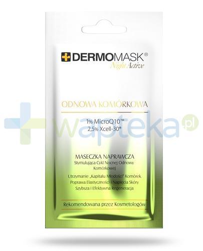 Lbiotica DermoMask Night Active Odnowa komórkowa maseczka naprawcza stymulująca cykl nocnej odnowy komórkowej 12 ml