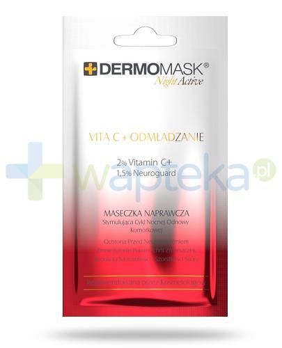 Lbiotica DermoMask Night Active Vita C + Odmładzenie maseczka naprawcza stymulująca cykl nocnej odnowy komórkowej 12 ml