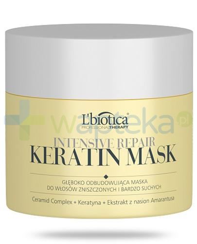 Lbiotica Intensive Repair Keratin Mask głęboko odbudowująca maska do włosów zniszczonych 200 ml
