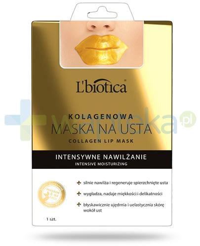 Lbiotica Intensywne nawilżenie kolagenowa maska do ust 1 sztuka