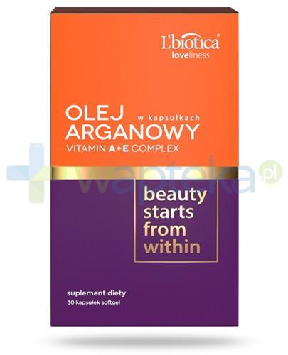 Lbiotica Loveliness Olej arganowy + Vitamin A+E Complex 30 kapsułek