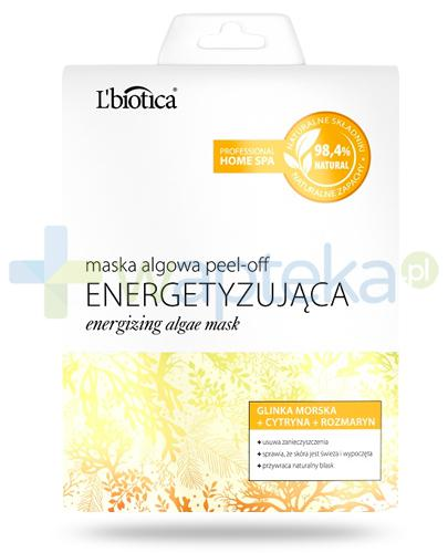 Lbiotica Peel-Off maska algowa Energetyzująca glinka morska, cytryna, rozmaryn 12 g