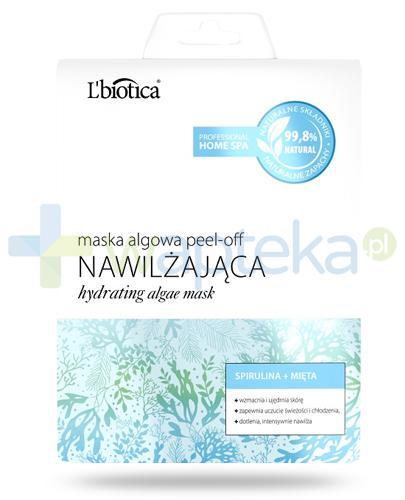 Lbiotica Peel-Off maska algowa Nawilżająca spirulina, mięta 12 g