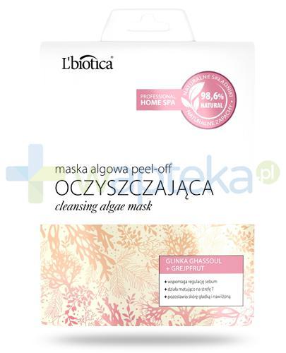 Lbiotica Peel-Off maska algowa Oczyszczająca glinka ghassoul, grejpfrut 12 g
