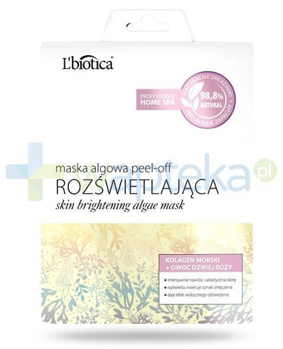 Lbiotica Peel-Off maska algowa Rozświetlająca kolagen morski, owoc dzikiej róży 12 g