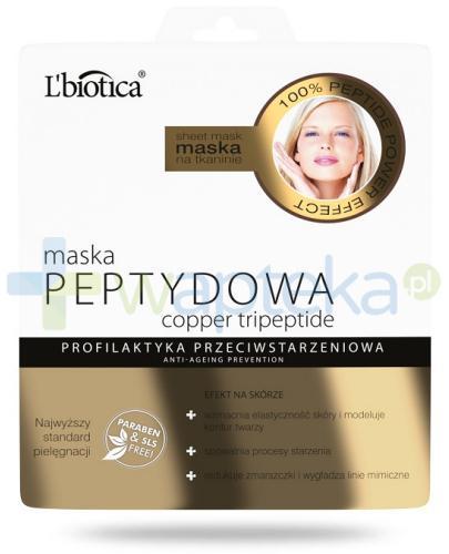 Lbiotica Peptydowa maska na tkaninie 23 ml