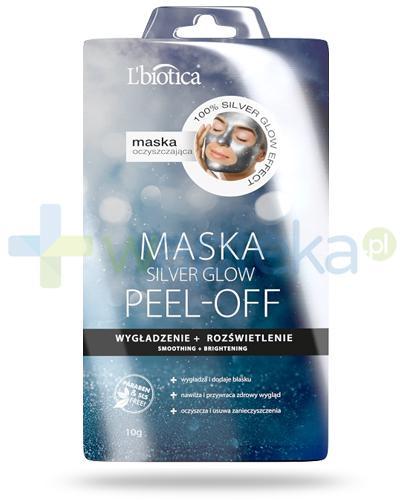 Lbiotica Silver Glow Mask Peel Off maska oczyszczająca 10 g