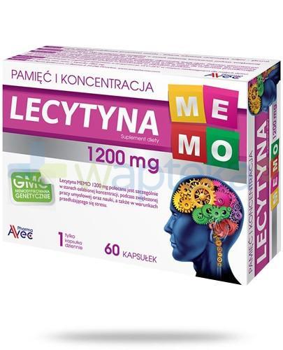 Lecytyna Memo 1200 pamięć i koncentracja 60 kapsułek