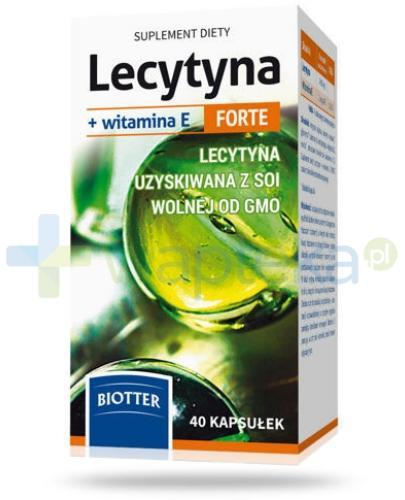 Lecytyna + witamina E Forte 40 kapsułek