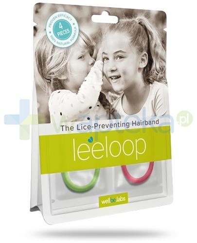LeeLoop elastyczna gumka do włosów przeciw wszom 4 sztuki