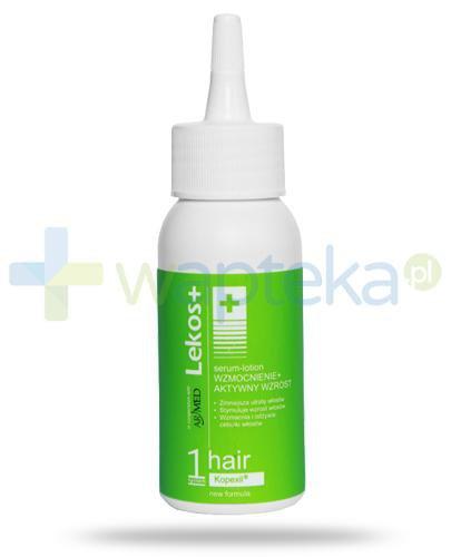 Lekos+ System 1 wzmocnienie + aktywny wzrost serum lotion do włosów 50 ml Data ważności [30-09-2018]
