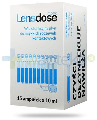 Lensdose Mono wielofunkcyjny płyn do miękkich soczewek kontaktowych 15x 10 ml