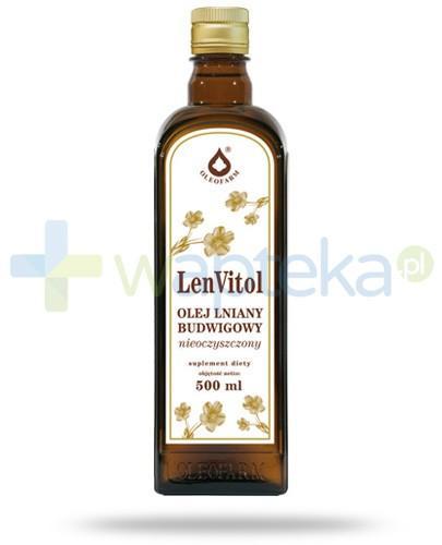 LenVitol olej lniany tłoczony na zimno 500 ml - Data ważności 16-05-2017