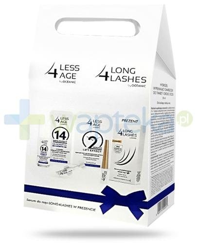 Less4age, hydrożel do twarzy i okolic oczu 30 ml + koncentrat liftingujący, ampułki 5x 0,5 g + serum do rzęs 3 ml [ZESTAW]