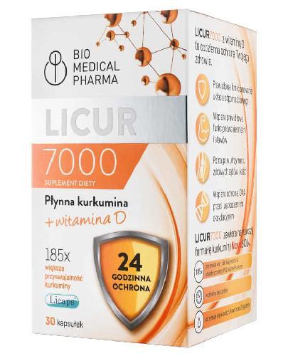 Licur 7000 płynna kurkumina + witamina D 30 kapsułek