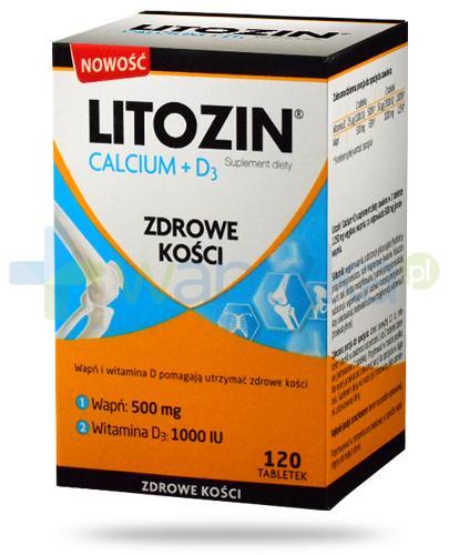 Litozin Calcium + D3 zdrowe kości 120 tabletek