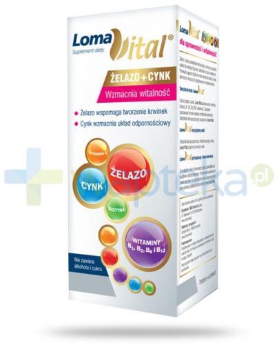Loma Vital żelazo+cynk płyn 250 ml