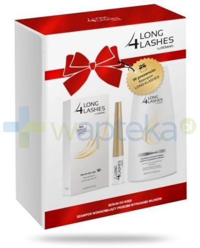 Long 4 Lashes serum przyspieszające wzrost rzęs 3 ml + szampon wzmacniający przeciw wypadaniu włosów 200 ml [ZESTAW]