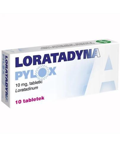 Loratadyna Pylox 10 mg 10 tabletek