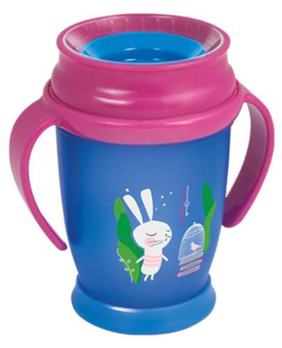 Lovi Follow the Rabbit 360°  kubek dla dzieci 12m+ z brelokiem 250 ml [1/544_brelok]